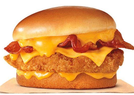 Burger King Cheesy Bacon Crispy Chicken sandwich