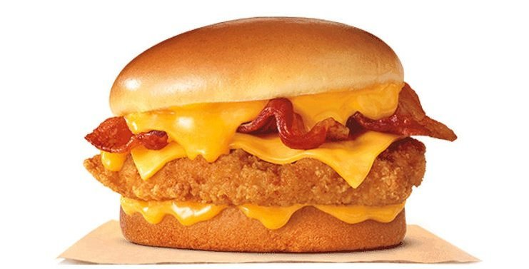 Burger King Cheesy Bacon Crispy Chicken sandwich
