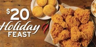 Popeyes $20 Holiday Feast