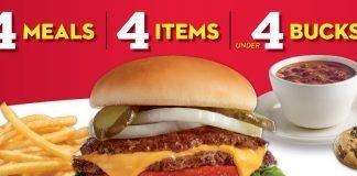 Steak 'n Shake 4 meal 4 items 4 bucks dbi