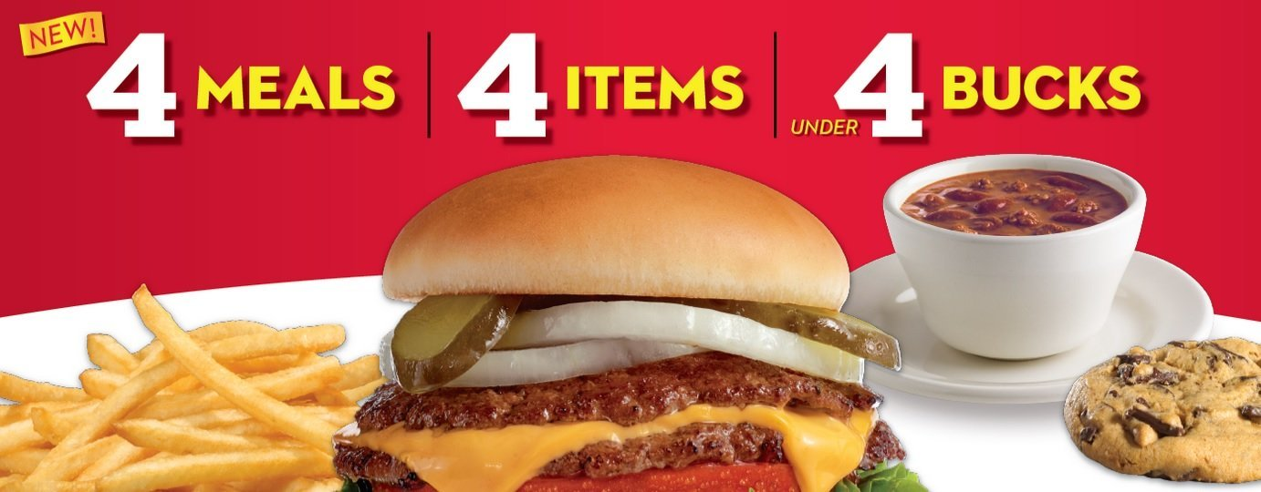 Steak N Shake Is Offering 4 Meals 4 Items Under 4 The Fast Food Post