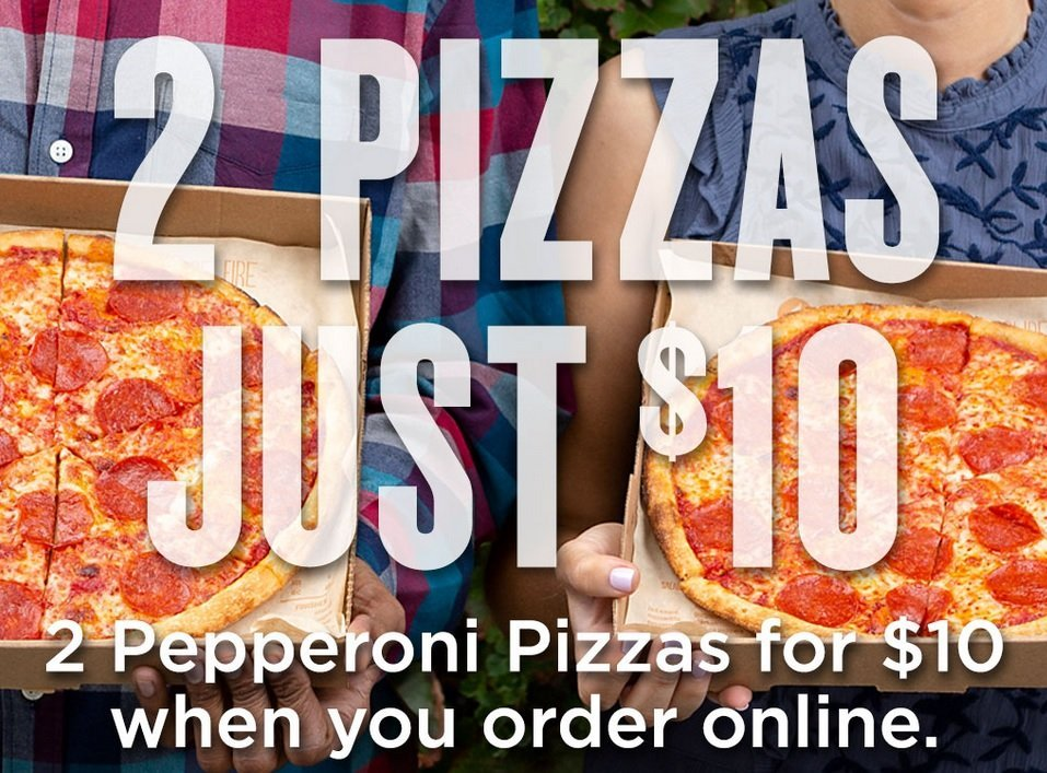 Blaze Pizza 2 Pizzas for 10 dollars deal