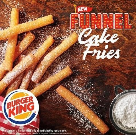 Burger King Funnel Cake Fries