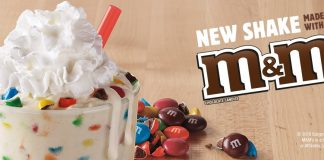 Burger King new Vanilla Shake made with M&M'S chocolate candies
