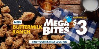 Church's Chicken New Buttermilk Ranch MegaBites