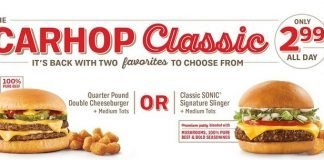 Sonic The Carhop Classic promo