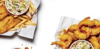 A&W new pub style baskets with larger shrimp