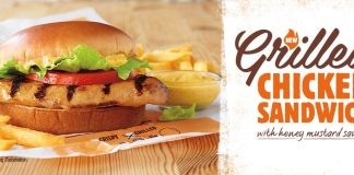 Burger King new Grilled Chicken Sandwich with Honey Mustard Sauce