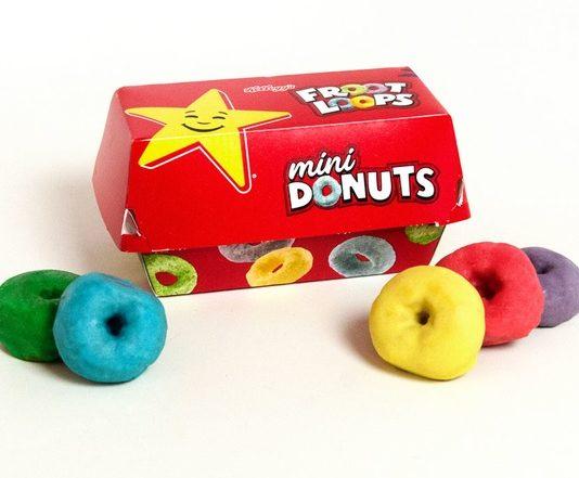 Hardee's Carl's Jr. Froot Loops Mini Donuts