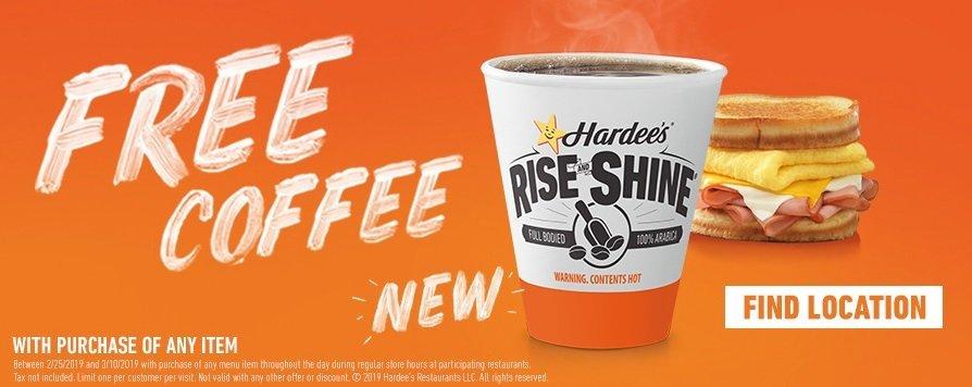 Hardee's new Rise and Shine coffee