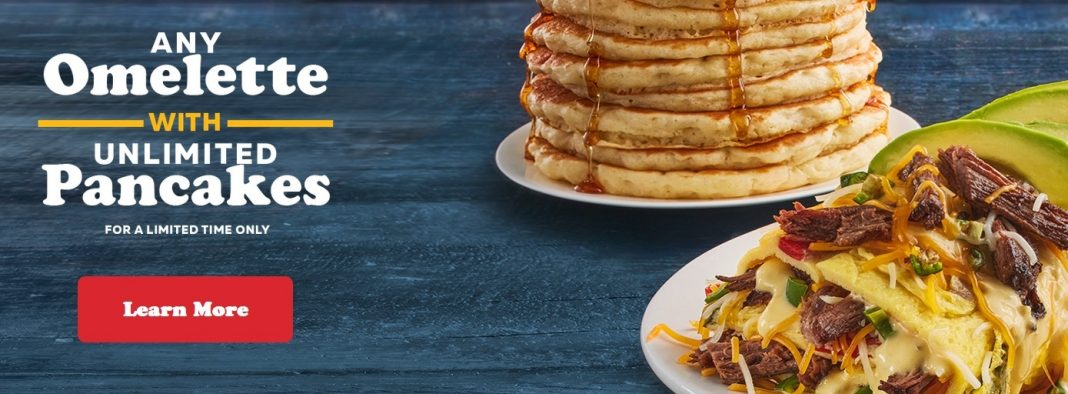 IHOP new Any Omelette with Unlimited Pancakes deal