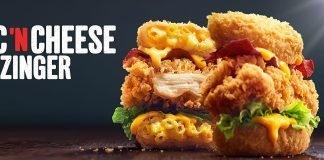 KFC new Mac 'N Cheese Zinger