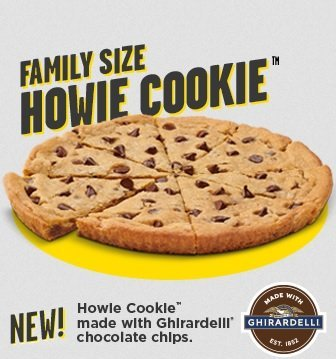 New Howie Cookie with Ghirardelli chocolate chips