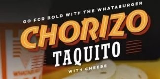 Whataburger Chorizo Taquito with cheese