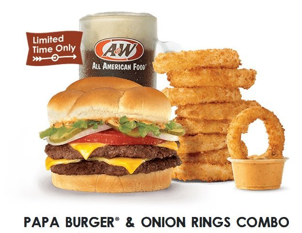 A&W Papa Burger and Onion Rings Combo returns