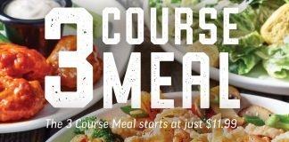 Applebee's 3-course meal deal