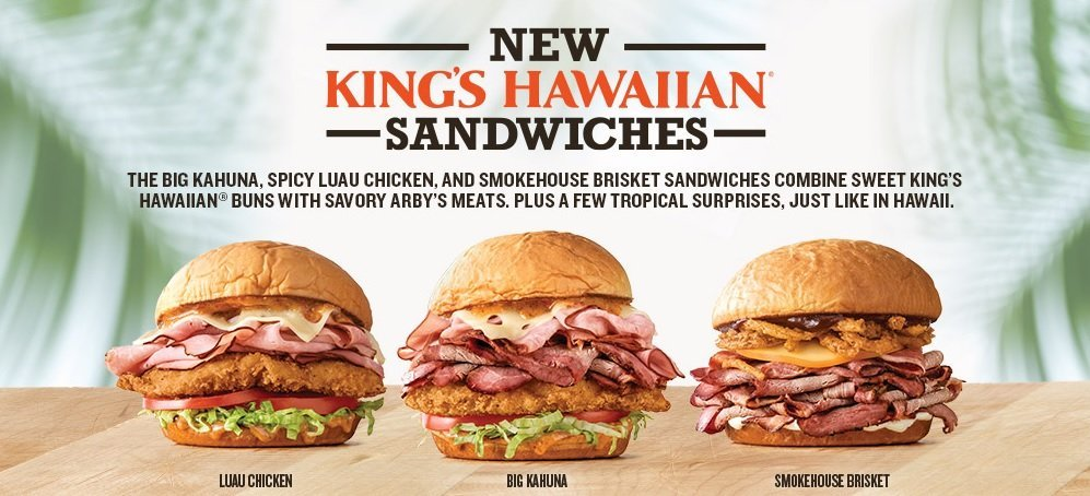 Arby's new King's Hawaiian Sandwiches
