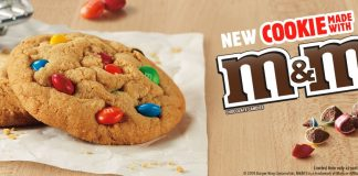 BK new Cookie Made With M&M's Chocolate Candies