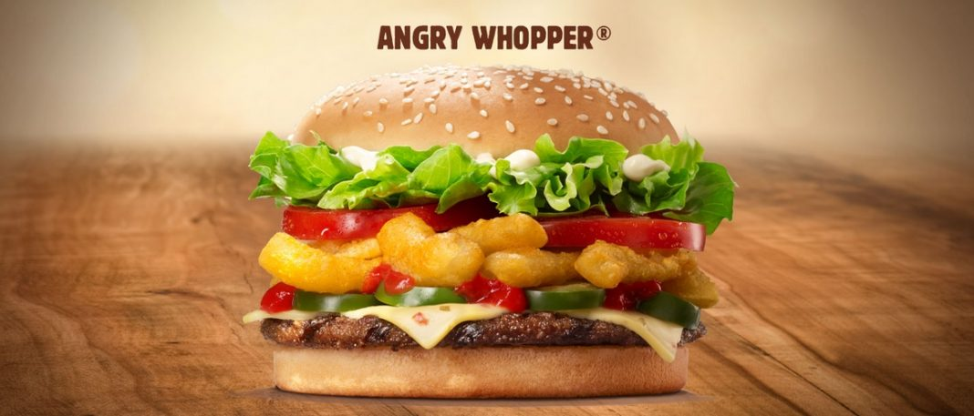 Burger Angry Whopper return