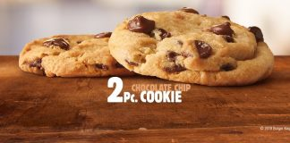 Burger King new 2 Pc Chocolate Chip Cookie