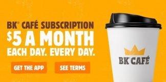 Burger King new BK Café $5 A Month Subscription Program