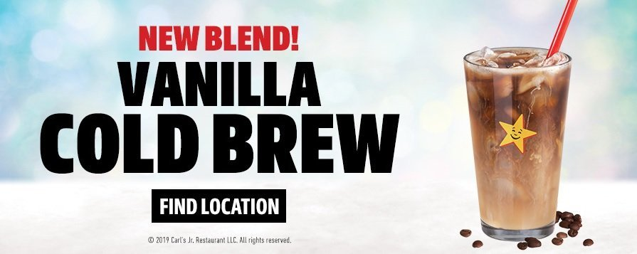 Carl's Jr. new Vanilla Cold Brew coffee blend