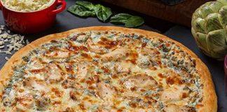 Casey's new Spinach, Artichoke and Chicken Pizza