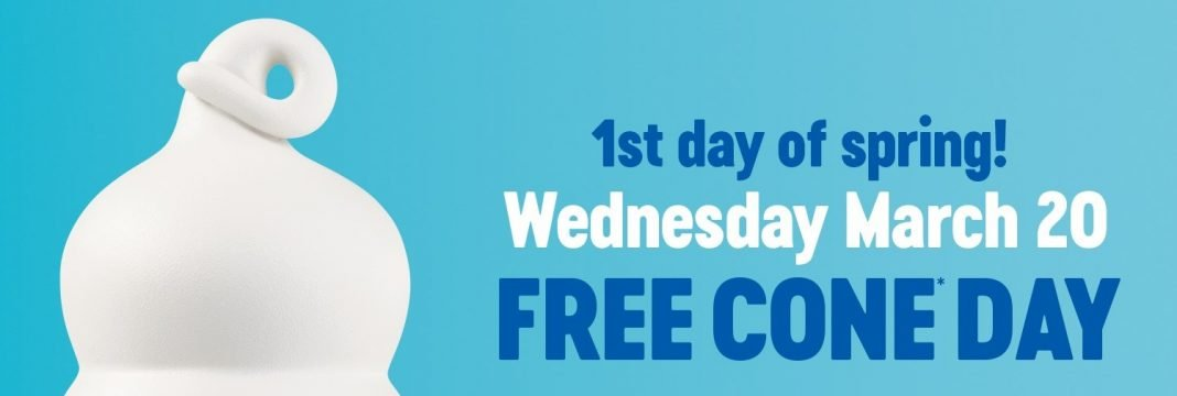 Dairy Queen Free Cone Day March 20