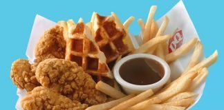 Dairy Queen new Chicken and Waffles Basket