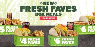 Del Taco new Fresh Faves Box Meals