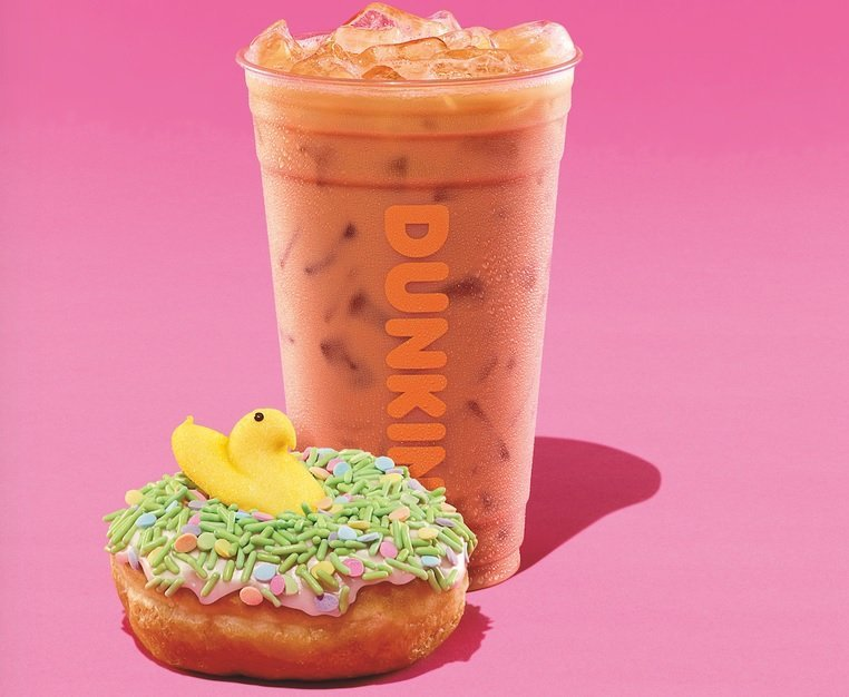 Dunkin' new PEEPS Donut and PEEPS Marshmallow Flavored Coffee