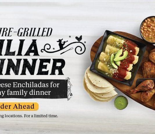 El Pollo Loco new Familia Dinner Cheese Enchiladas deal