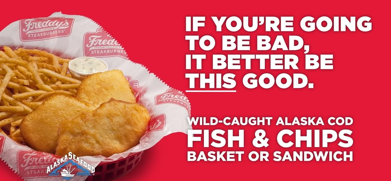 Freddy S Fish Sandwich And Fish Chips Basket Return For Lent The Fast Food Post