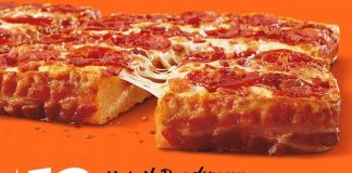 Little Caesars Bacon Wrapped Deep Dish pizza is back