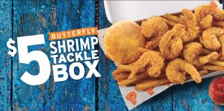Popeyes $5 Butterfly Shrimp Tackle Box returns