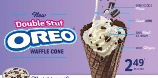 Sonic Double Stuf Oreo Waffle Cone is back