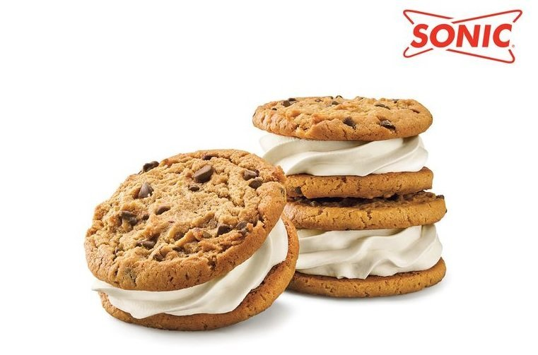 Sonic Drive-In new Nestle Chocolate Chip Cookie Ice Cream Sandwich