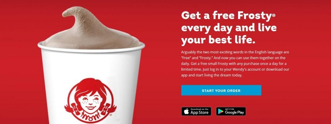 Wendy's free Frosty deal online