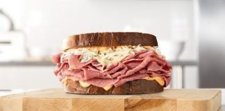 Arby's Double Stack Reuben back