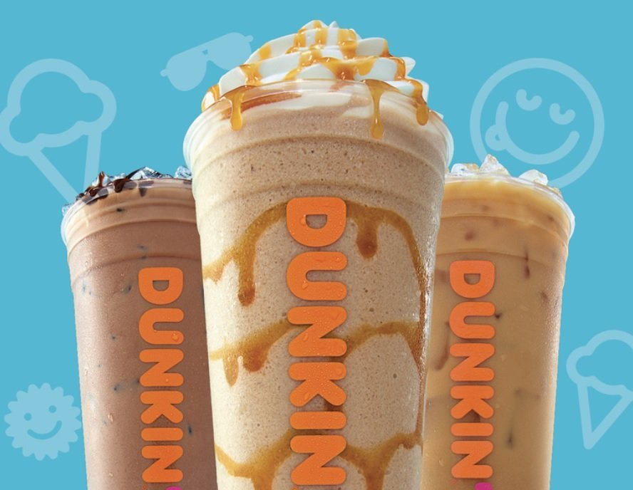 Dunkin' new Banana Split and Pistachio Almond Fudge coffees