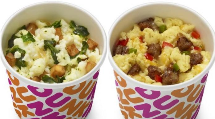 Dunkin' new Sausage Scramble Bowl and Egg White Bowl