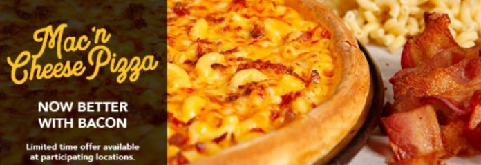 Mac 'n Cheese Pizza by Godfather's Pizza