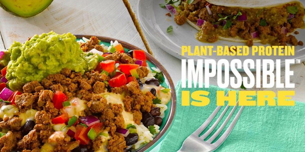 Qdoba Impossible Taco and Impossible Bowl