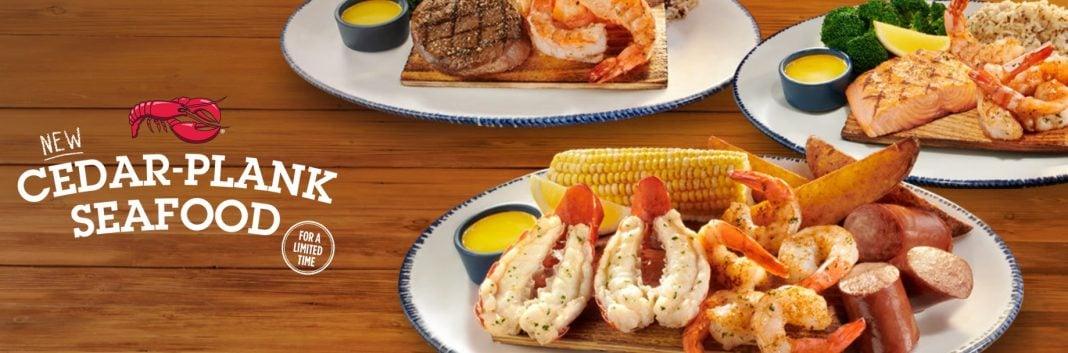 Red Lobster new Cedar-Plank Seafood menu
