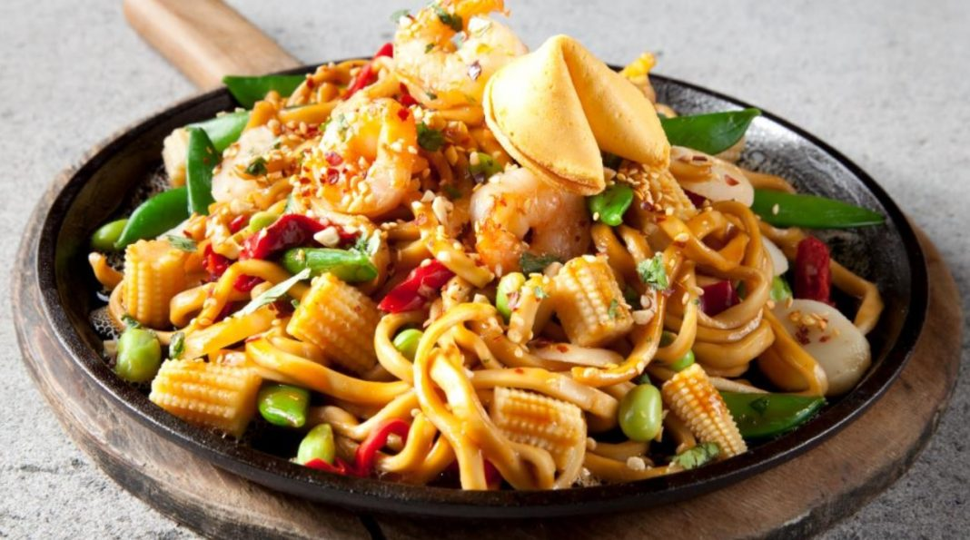 TGI Fridays new Sizzling Entrees shrimp dish