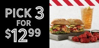 TGI Fridays new lunch menu pick 3 for 12.99