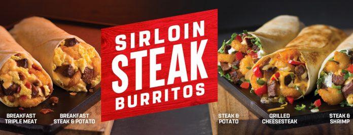 Taco John's Sirloin Steak Burritos lto hero