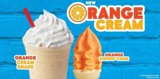 Wienerschnitzel new Orange Cream Cone and Shake