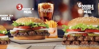 Burger King $6, $5 and $4 Meal promo hero