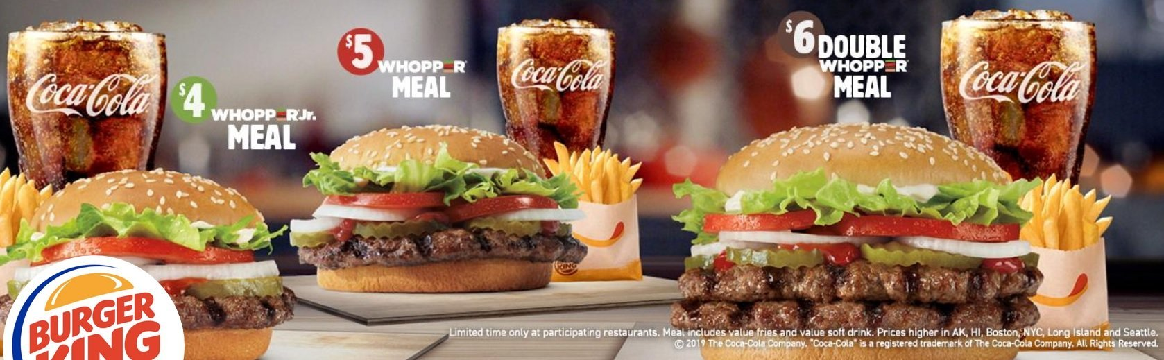 Burger King Launches New $6 Double Whopper Meal, $5 Whopper Meal and